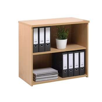 Low Bookcase with a Single Shelf, Beech (Width 80cm)