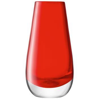 LSA International Flower Colour Bud Vase - Red (14 x 7cm)
