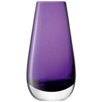 LSA International Flower Colour Bud Vase - Violet (14 x 7cm)