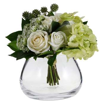 LSA International - Flower Clear Table Arrangement Vase - (H11.5cm)