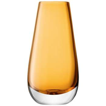 LSA International Flower Colour Bud Vase - Amber (14 x 7cm)