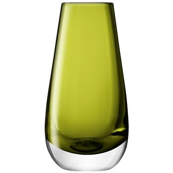 LSA International Flower Colour Bud Vase - Olive (14 x 7cm)