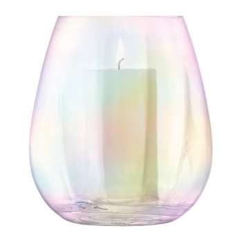 LSA International - Pearl Blown Glass Lantern/Vase (H22 x W20 x D20cm)