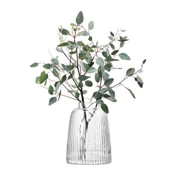 LSA International - Pleat Vase - Clear (H26 x W19 x D19cm)