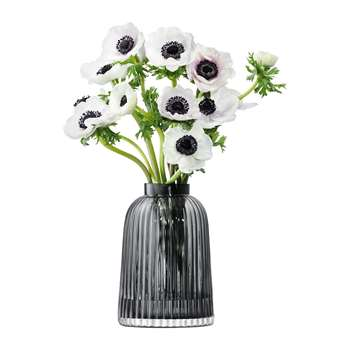 LSA International - Pleat Vase - Grey - 20cm (H20 x W13.5 x D13.5cm)