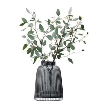 LSA International - Pleat Vase - Grey (H26 x W19 x D19cm)