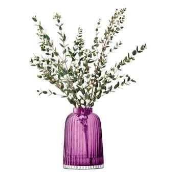 LSA International - Pleat Vase - Heather - 20cm (H20 x W13.5 x D13.5cm)