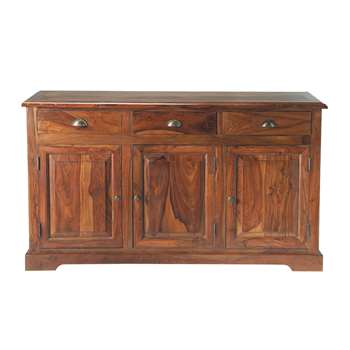 LUBÉRON Stained Solid Sheesham Wood Sideboard (H150 x W85 x D46cm)