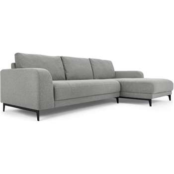 Luciano Right Hand Facing Chaise End Corner Sofa, Mountain Grey (H80 x W273 x D154cm)
