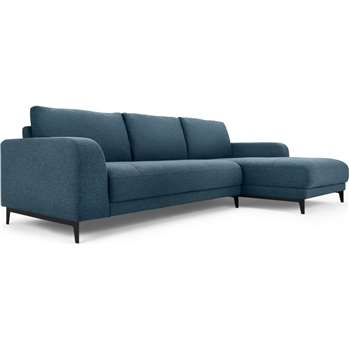 Luciano Right Hand Facing Corner Sofa, Orleans Blue (H80 x W273 x D154cm)