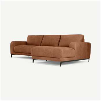 Luciano Right Hand Facing Corner Sofa, Texas Tan Leather (H86 x W278 x D154cm)
