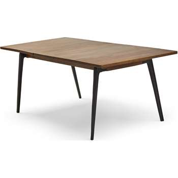 Lucien 6- 8 Seat Extending Dining Table, Dark Mango Wood (H76 x W160 x D90cm)