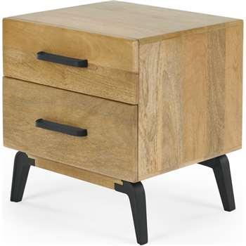 Lucien Bedside, Light Mango Wood (H51 x W55 x D45cm)