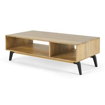 Lucien Coffee Table, Light Mango Wood (H40 x W120 x D60cm)