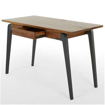 Lucien Desk, Dark Mango Wood (H75 x W120 x D58cm)