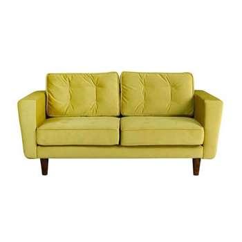 Luciene 2 seat sofa Genova Olive (82 x 172cm)