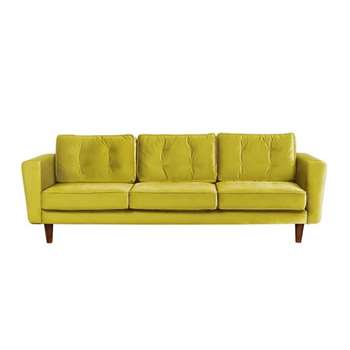 Luciene  3 seat sofa Genova Olive (82 x 242cm)