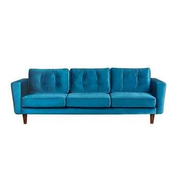 Luciene  3 seat sofa Genova Peacock (H82 x W242 x D93cm)