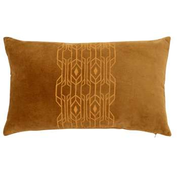 LUCILE - Matte Gold Cotton Cushion Cover (H30 x W50cm)