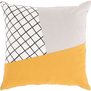 Ludo 100% Cotton Printed Cushion, Multi (45 x 45cm)