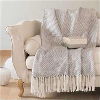 LUGANO grey cotton throw (180 x 240cm)