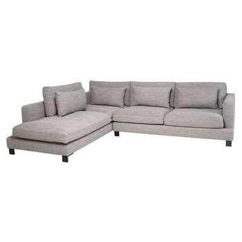 Lugano left hand corner sofa grey (84 x 299cm)