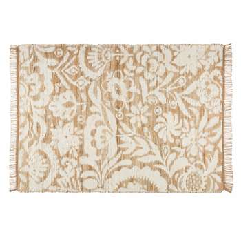 LUKILA white cotton and jute rug (140 x 200cm)