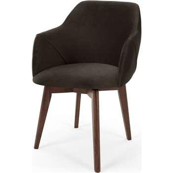 Lule Office Chair, Grey Velvet (H79 x W59 x D61cm)