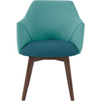 Lule Office Chair, Mineral Blue and Emerald Green (79 x 59cm)