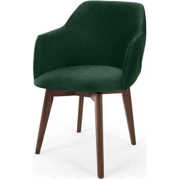 Lule Office Chair, Pine Green Velvet (H79 x W59 x D61cm)