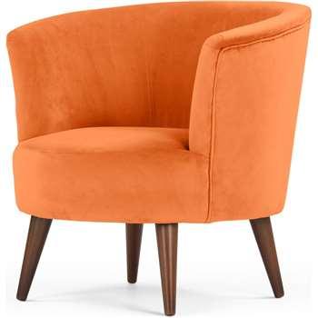 Lulu Scoop Chair, Chatelet Orange (76 x 77cm)