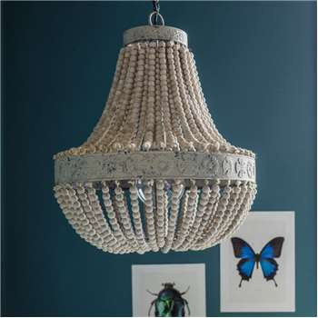 Luna Antique Beaded Chandelier (H63 x W51 x D51cm)