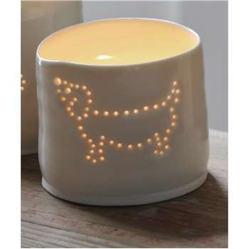 Luna Lighting Porcelain Sausage Dog Tea Light (5 x 6cm)