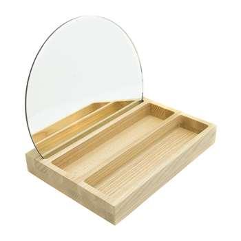 Lund London - Allure Mirror with Tray - Rectangular (25 x 18cm)
