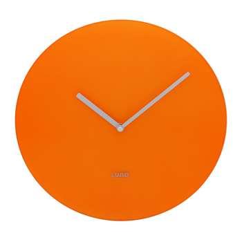 Lund London - Neon Wall Clock - Orange (H30 x W30cm)