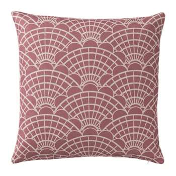 Lune Cushion Cover, Dusty Pink & Natural Graphic Scallop Design (45 x 45cm)