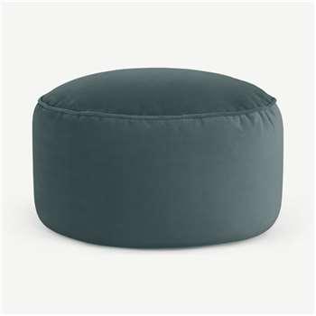Lux Floor Cushion, Marine Green Velvet (H30 x W60 x D60cm)