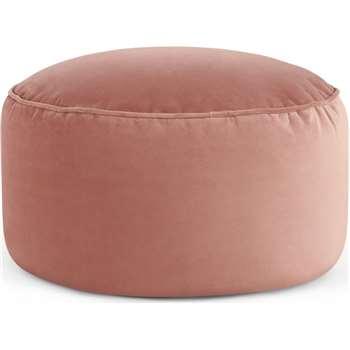 Lux Velvet Floor Cushion, Blush Pink Velvet (H30 x W60 x D60cm)