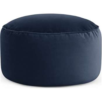 Lux Velvet floor cushion, Royal Blue Velvet (H30 x W60 x D60cm)