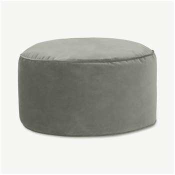 Lux Velvet Floor Cushion, Sage Green Velvet (H30 x W60 x D60cm)