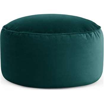 Lux Velvet Floor Cushion, Seafoam Blue Velvet (H30 x W60 x D60cm)