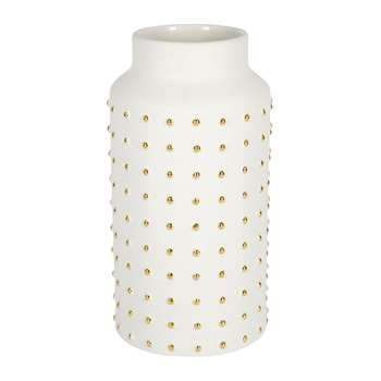 Luxe - Gold Dot Vase - Large (H29 x W13 x D13cm)