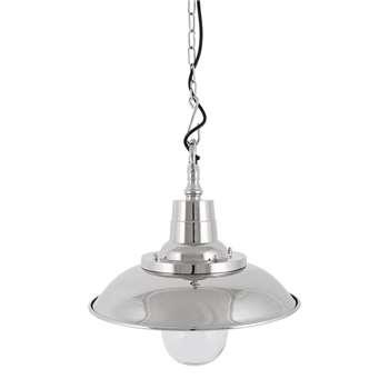 Luxe - Silver Industrial Pendant Light (H28 x W35 x D35cm)