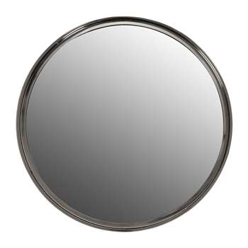 Luxe - Tapered Frame Round Mirror - Silver (Diameter 64.5cm)
