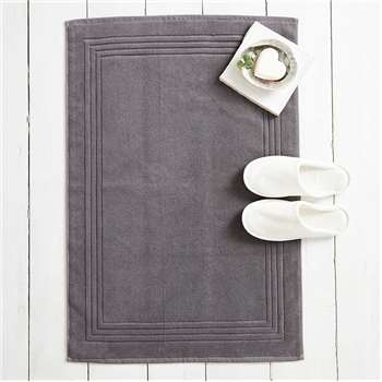 Luxury Egyptian Cotton Bath Mat, Slate (60 x 90cm)