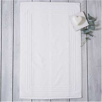 Luxury Egyptian Cotton Bath Mat, White (60 x 90cm)