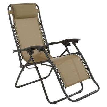 Luxury Relaxer Chair - Mushroom (112 x 64 x 160cm)