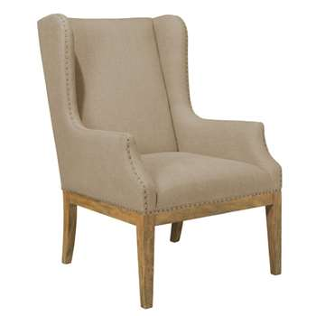Lydford Linen Wing Chair - Natural (102 x 67cm)