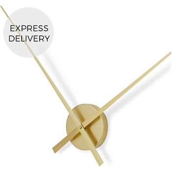 Lyla Extra Large Statement Clock, Brass (Diameter 70cm)