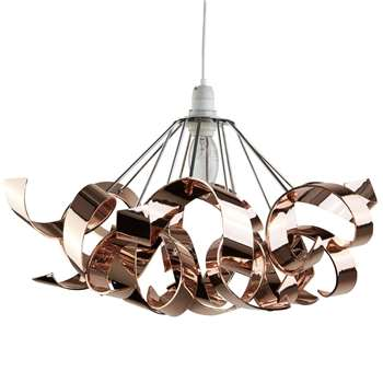 Lyndsay Pendant Light Shade Rose Gold (H22 x W44 x D44cm)
